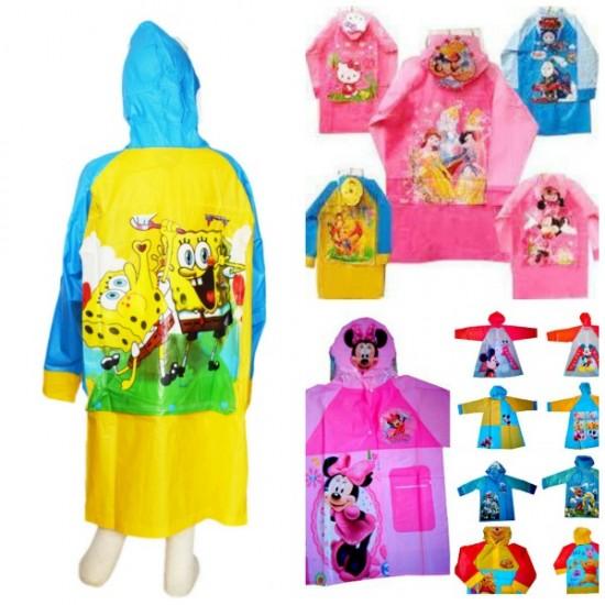 Character Children Raincoats- assorted characters