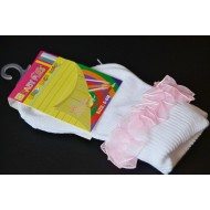 Baby Plus Girls Lacy Socks (0-6mths, 6-12mths, 12-24mths)