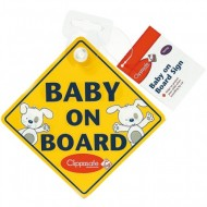 Clippasafe 'Baby on Board' Sign
