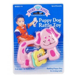 Baby King Animal rattle toy- Cow, Dog