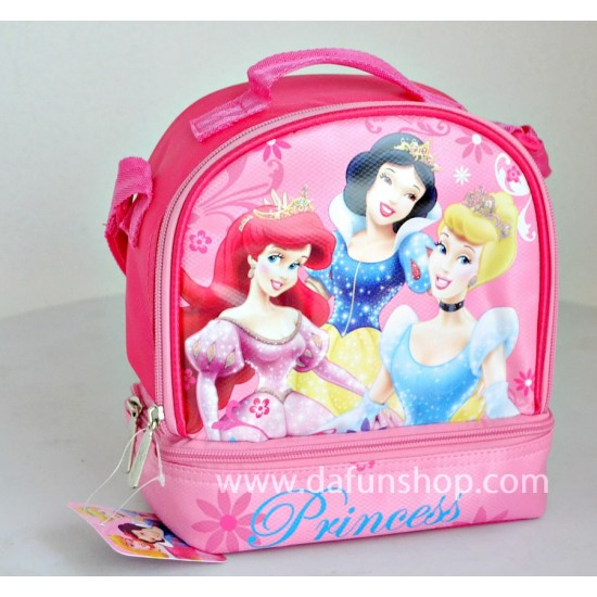 Disney princess Dual compartment Lunch bag