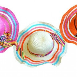 Big Girls Large Floppy Straw hats- assorted colours (10yrs+)
