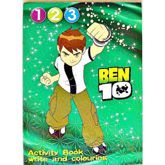 Activity Book- Write & Colour- Ben10, Dora, Hannah