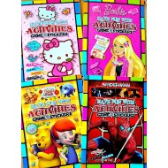 Activity, Games, Fun Sticker Book- Winnie, Barbie, Hello kitty,Spiderman