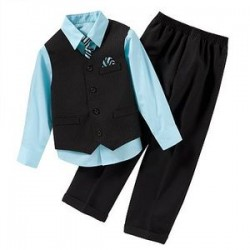 Arrow Boys 4 piece Suit Set - Shirt, Tie, Vest, Pants- 6, 7yrs