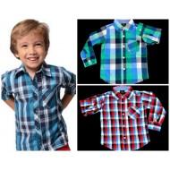 Baby Boys Long sleeve Plaid Shirt (12mths- 24mths)