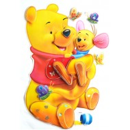 Winnie The Pooh 3d Peel & Stick Giant Wall Decal Sticker