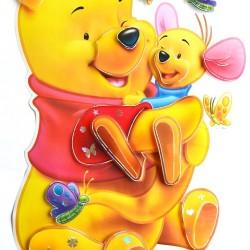 Winnie The Pooh 3d Peel & Stick Giant Wall Decal Sticker