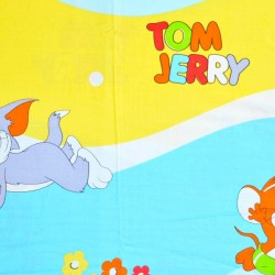 Tom & Jerry 3pc Bedding set- 1 Bedsheet (84 x 86cm) and 2 standard pillowcases