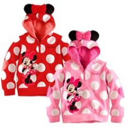 Disney Minnie Mouse Polka Dots Hoodie (3mths-24mths)