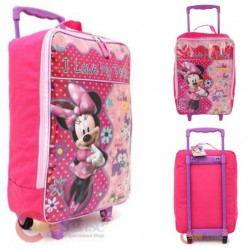 Disney Minnie Mouse 16inch Padded Pilot Rolling Luggage -I Love My Pets