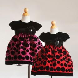 Crayon Kids: Baby Girl Trista Polka Dot Occasion dress- 12mths-24mths