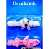 Baby Girl  Newborn 2 pack Hair bands-0mths+