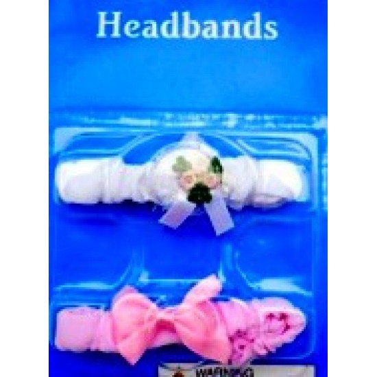 Baby Girl  Newborn 2 pack Hair bands-0mths+