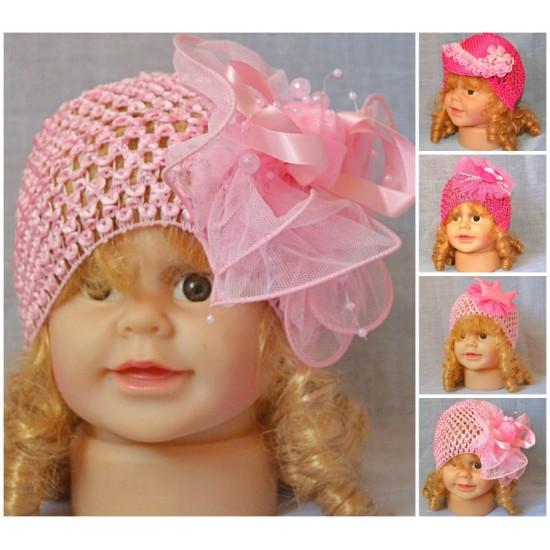 Baby Girls Beanie Hat- hair accessory- assorted deisgns (0-12mths)