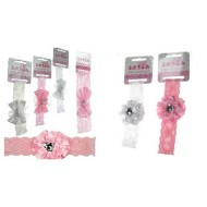 Baby Girl Lace Headbands by Soft Touch