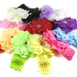 Diamante Flower Headbands- assorted