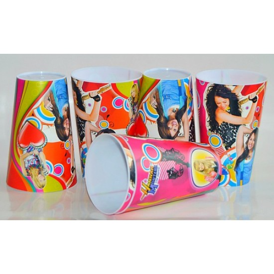 Character Party Plastic Cups- 6 pack- Hannah & Angry birds design