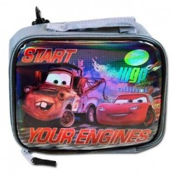 "Disney Cars ""Start Your Engines"" Rectangle Lunch Bag with bag clip"