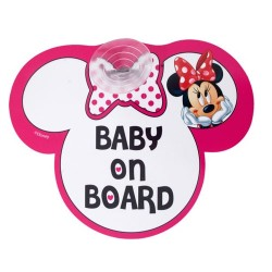 Baby on board car sign-Minnie Mouse