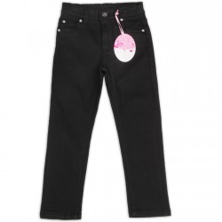 CONEY ISLAND Girls Black Twill Pants (5yrs)