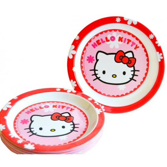 Kids Cartoon Melamine Round Plates- assorted designs