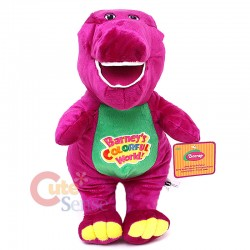 Singing Barney Colourful World Plush Doll - 14inches