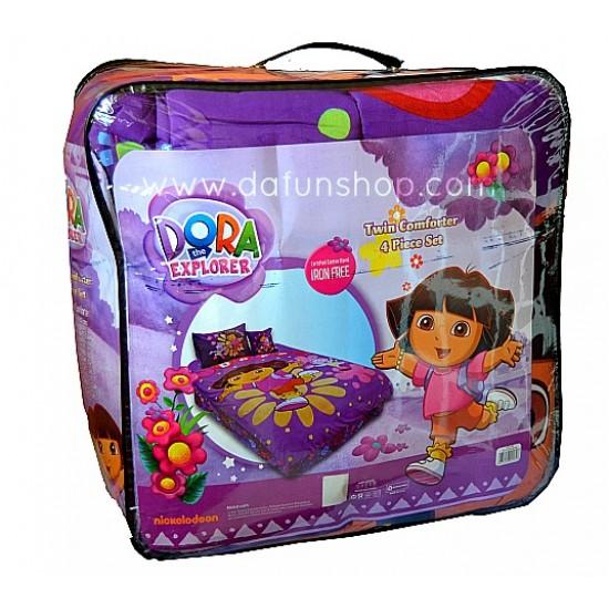 Dora the Explorer Twin Comforter 4piece set