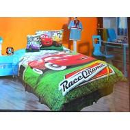 Disney Cars Lightning Mcqueen 4piece Twin Comforter Set