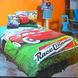 Disney Cars Lightning Mcqueen 4piece Twin Comforter Set