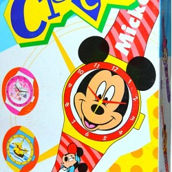Mickey & Minnie Mouse Face Wall Watch Clock- Big size