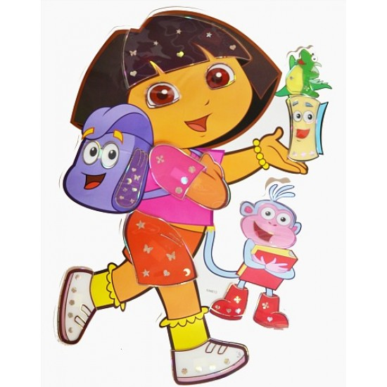 Dora 3d Peel & Stick Giant Wall Decal Sticker