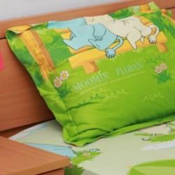 Moomin Floren Bedsheet & 2 pillows - 4ft x 6ft