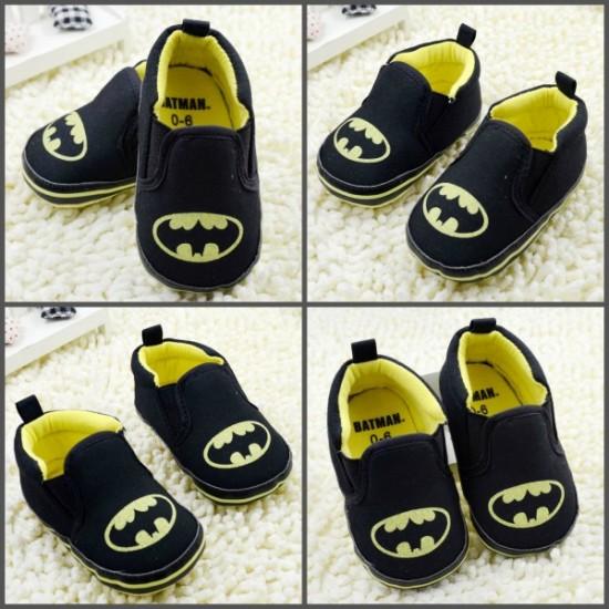 Batman Baby Boy Prewalker shoes- 0- 6mths