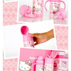 HELLO KITTY INSULATED THERMAL STRAW BOTTLE