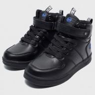 Bubblegummers Boys Hi Top Black Sneakers