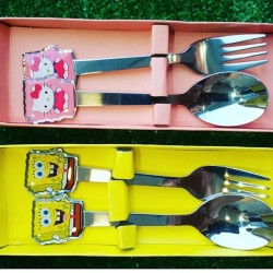 2pcs Stainless Steel Children Cutlery Set Cutlery Set Stainless Steel Dinner Set
