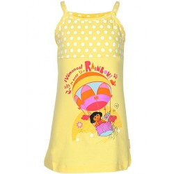 Kids Ville Dora Sleeveless Girls Yellow Printed Top- 2-3yrs