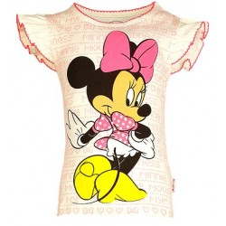 Kids Ville Girls Minnie Sequin & Glitter Printed Tee  (2-5yrs)