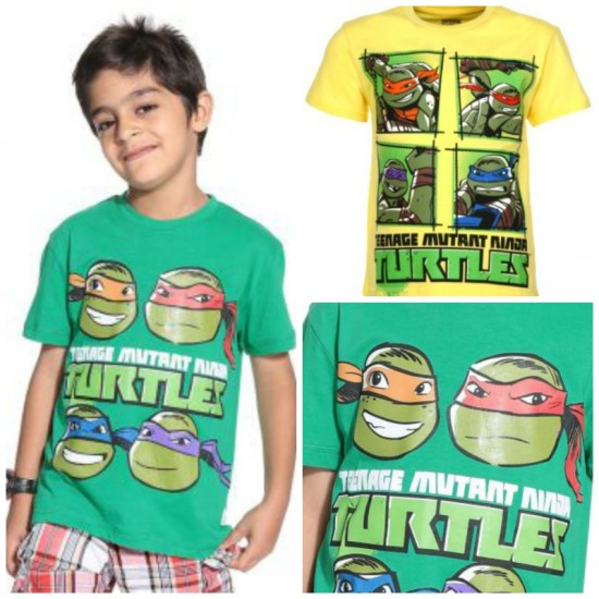 Kids Ville Boys Teenage Mutant Ninja Turtles Printed T-shirt- 2 designs- 7-10yrs