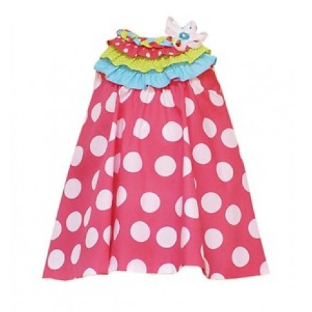 Rare Editions Pink/Coral Polka dot Tent Dress- 4T,5T