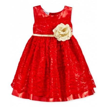 Blueberi Boulevard Baby Girls' Floral-Lace Dress - 12-18mths
