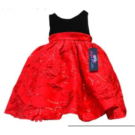 Jojo Belle Velvet Soutache Holiday Dress- 18mths