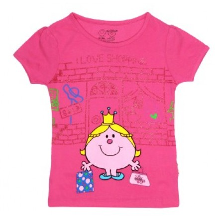 Kids Ville Mr. Men Little Miss Pink Printed T-shirt- 2, 3yrs