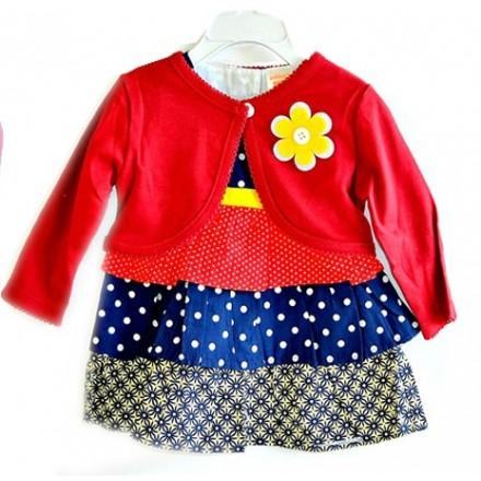 Ashley's Baby Girl Dress & bolero Set (3mths)