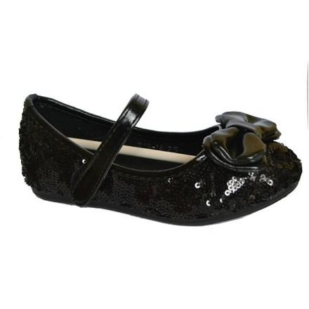 Bear Girls Black Sequin Dressy Flats- Size 25-30