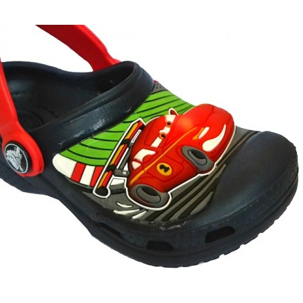 Mcqueen Cars 3d Lighted Crocs Sandals - US size 8