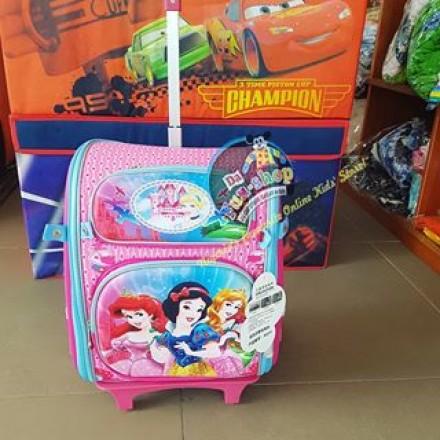 Large Character Orthopaedic detachable backpack trolley_Princess design