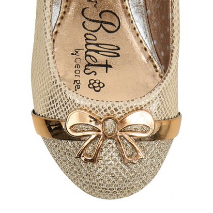George Bow Sparkle Ballet Shoes- Size UK 10, 11
