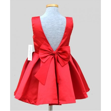 Dammuco Girls Lovely Red Party Dress- 2-3yrs